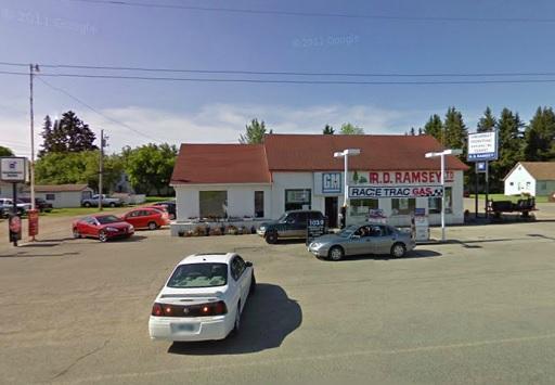 The R.D. Ramsey Ltd Garage as seen in 2009 by Google Streetview.