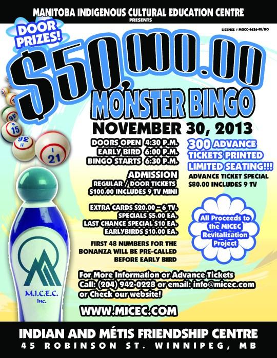 MICEC Monster Bingo Poster 2013 - Letter Size