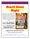 January 8th, Board Game Night