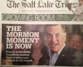 Salt Lake Tribune Mormon Moment is Now