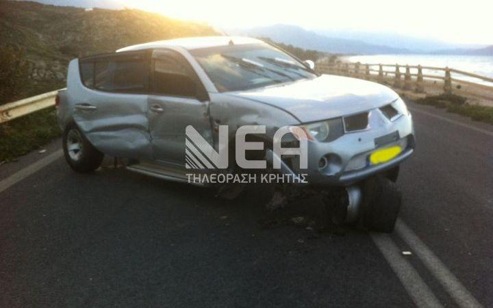 ΦΩΤΟ: Τροχαίο στη γέφυρα του Πετρέ. Ένας ελαφρά τραυματίας