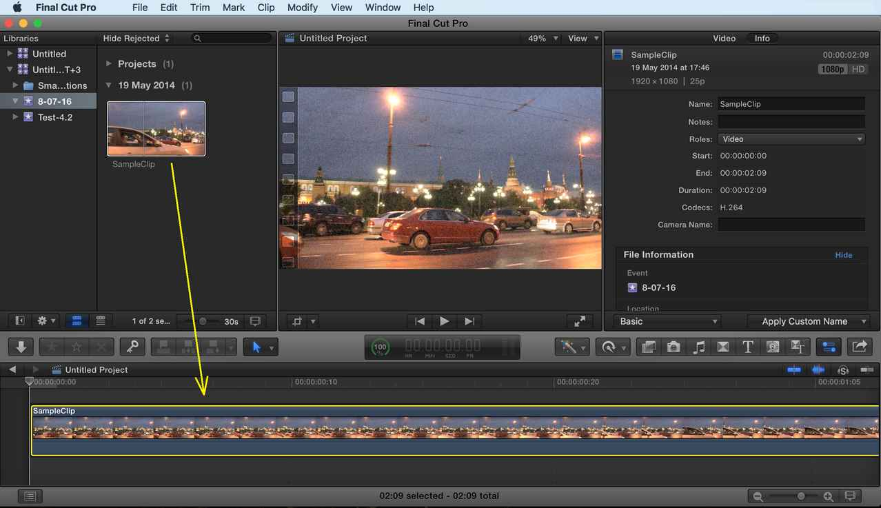 Pool Video Is Toreduce This Final Cut Pro Quick Start Guide Video Task Youwill See That Re Is Strong Noise Final Cut Pro X Preview Window Will Display Sample Clip dpreview Noise Reduction Software