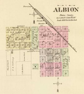 1885 Map of Albion Nebraska