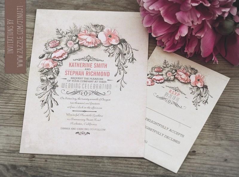 Large Of Vintage Wedding Invitations