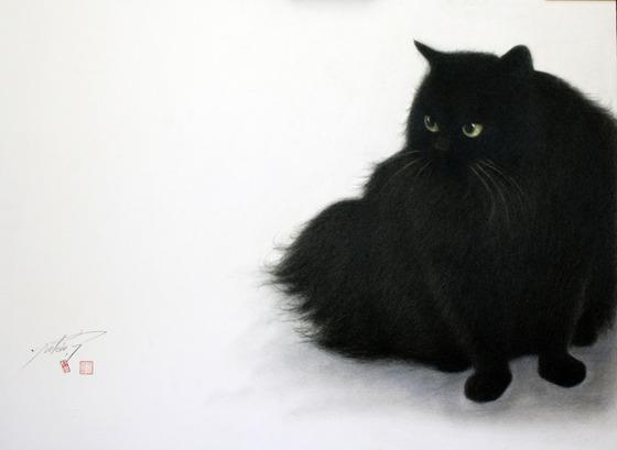 【猫アート】色鉛筆で描かれた猫アート!!今にも動き出しそうな猫の作品とは・・・!?-猫の絵描き「高橋行雄」-