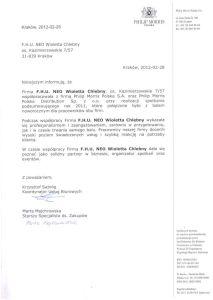 Rekomendacje bal 2012 - PHILIP MORRIS POLSKA S.A.