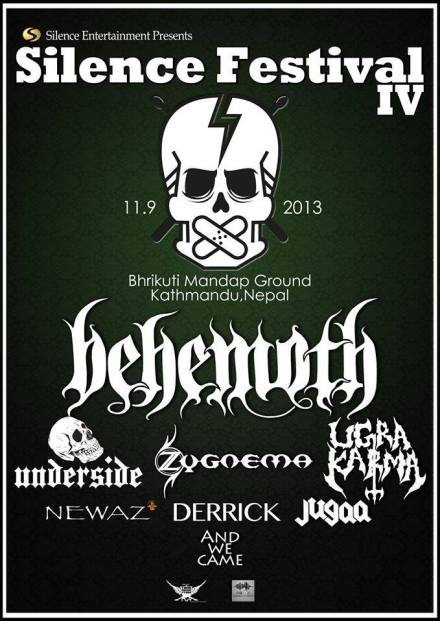 Silence Festival 2013 Nepal Headlined by Behemoth