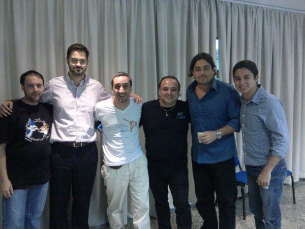 Wladimir, Fernando Ulrich, Rodolfo da Fundación Bitcoin, Alberto, do BitPay, Allex da fan page Brasil Bitcoin e Reddit e Andre Horta, do B2U