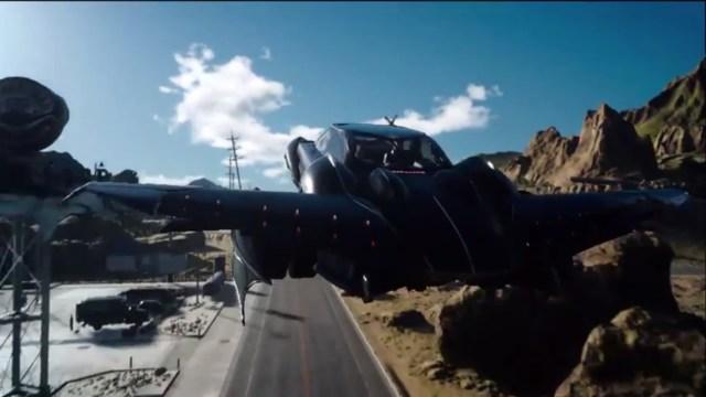 final fantasy XV car flying 2