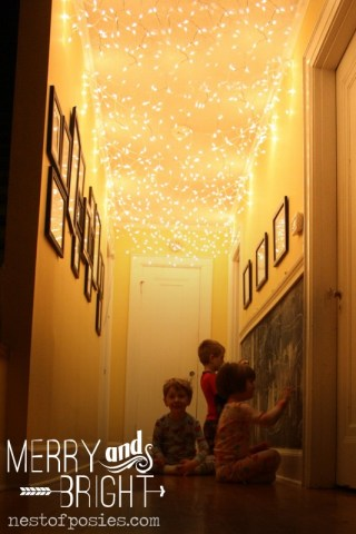 Best thing I did last Christmas!  Add twinkle lights to your hallway