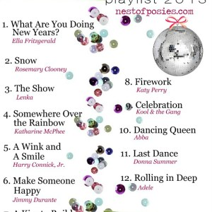 Happy New Year's Eve Playlist 2013 via Nest of Posies