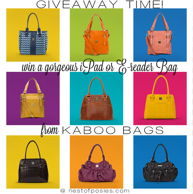 Win a gorgeous iPad or E-reader bag from Kaboo Bags at Nest of Posies