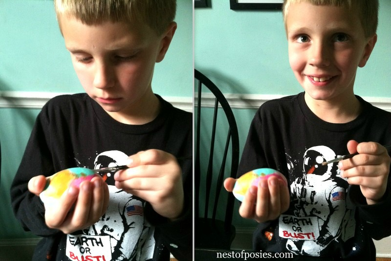 Making Watercolor Easter Eggs via Nest of Posies