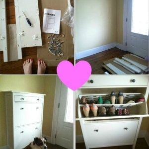 Hemnes Shoe Cabinet from Ikea via Nest of Posies