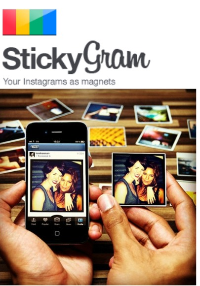 Stickygrams!  Turn your Instagrams into magnets