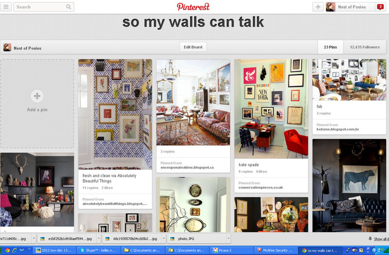 So My Walls Can Talk Pinterest Board via Nest of Posies
