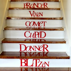 Reindeer Stairs!  Use the Silhouette machine to customize your fonts or any design.
