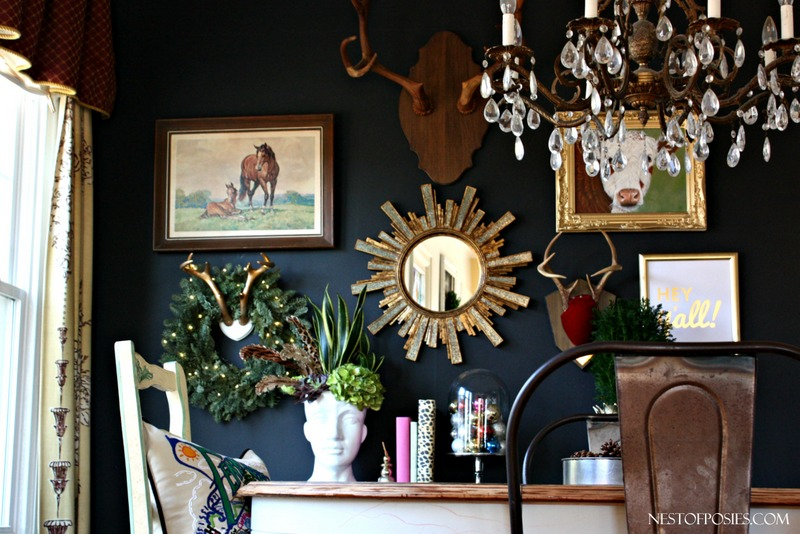 Dining Room Black Gallery Wall