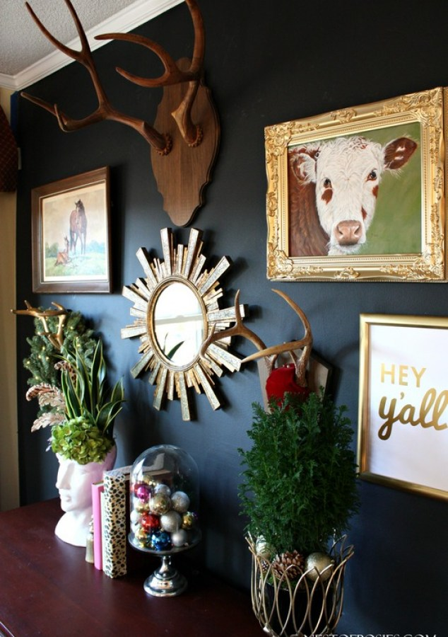 Eclectic Black Gallery Wall