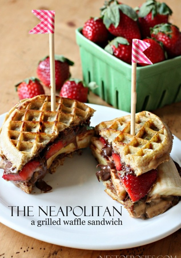 The Neapolitan A Grilled Waffle Sandwich