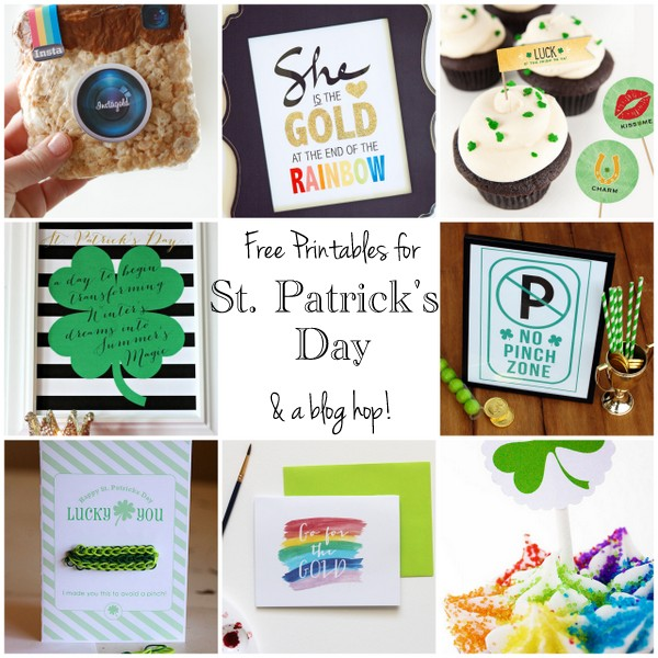 free St. Patrick's Day printables and blog hop