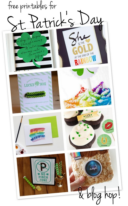 free printables for St. Patrick's Day + a blog hop