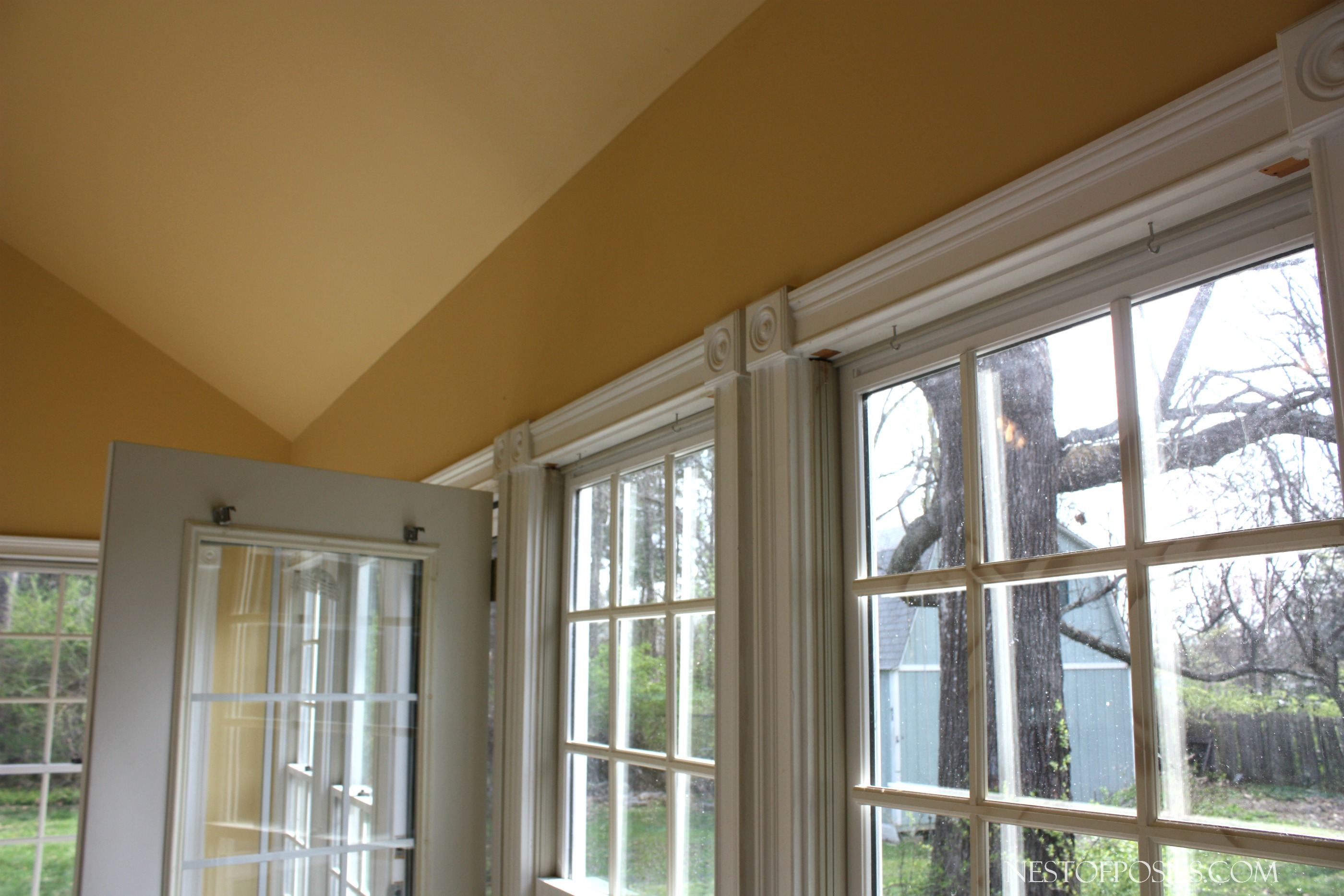 Kitchen sunroom combo home tour for Large windows for sunroom