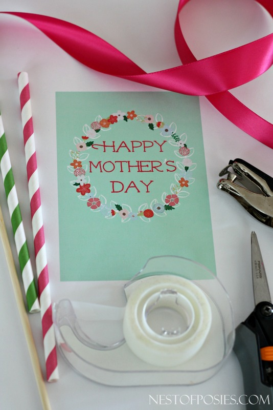 Supplies needed for Mother's Day Printable-001
