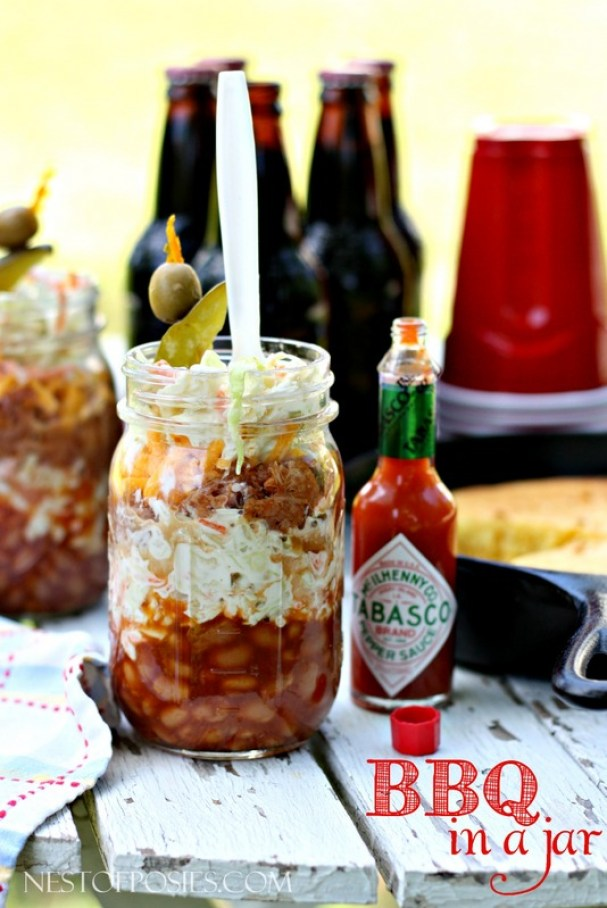 BBQ in a jar!  Perfect for Dad's, parties, picnics or holidays!