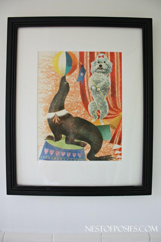 Bathroom Remodel - Vintage Circus Poster