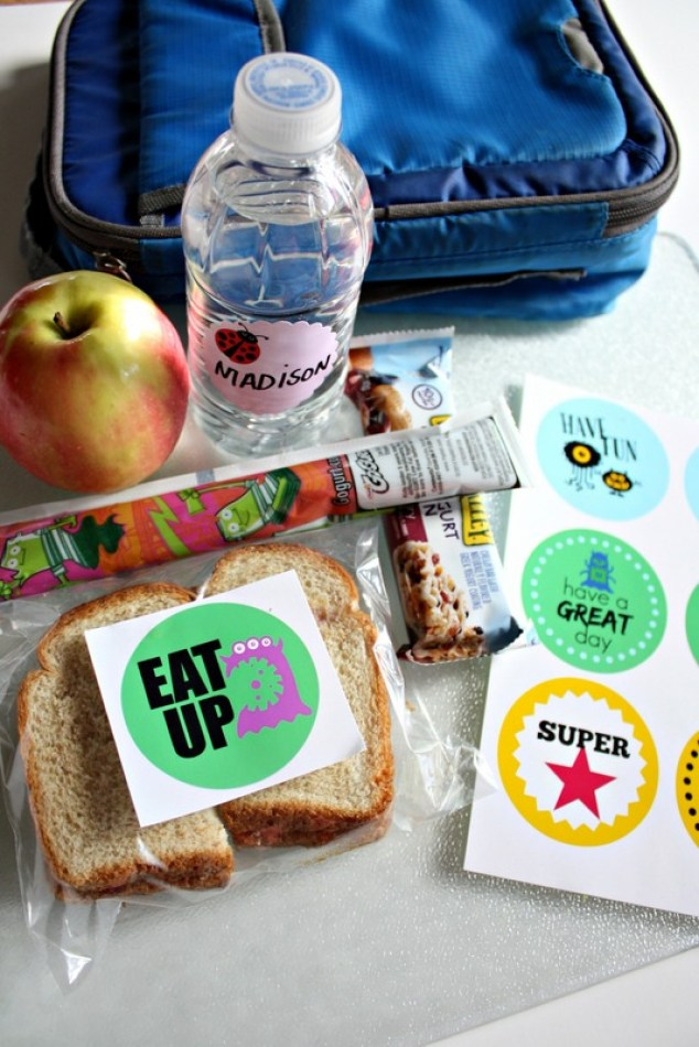 Back to School Lunchbox Stickers