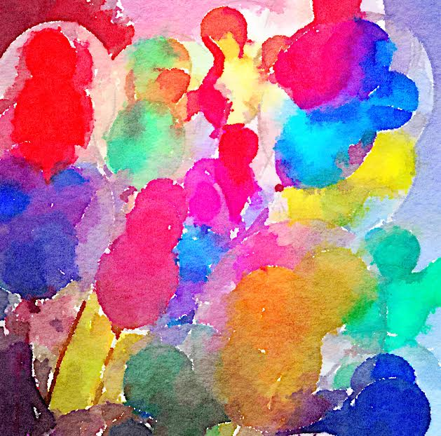 watercolor balloons