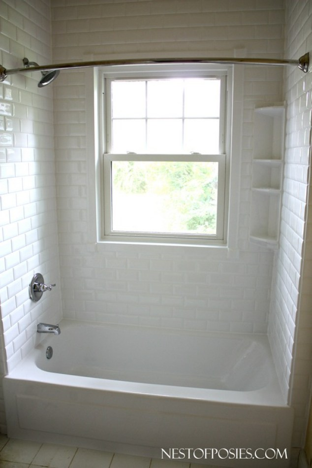 Before and After Subway Tile Bath