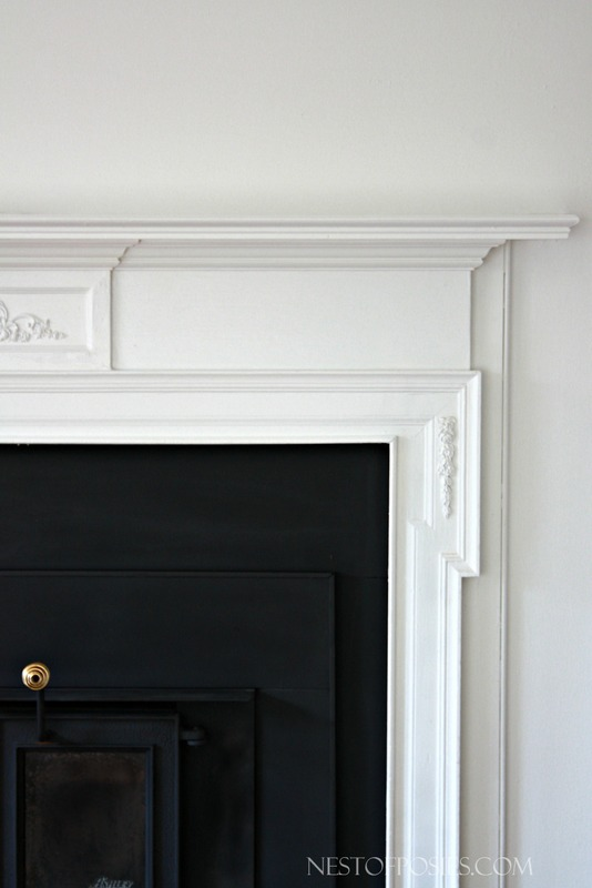 Painting a wood burning fireplace insert and mantel