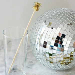DIY Tinsel Stir Sticks.  Made in seconds and perfect to add to your parties!