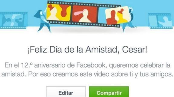 El vídeo del Día de la Amistad de Facebook tiene trampa