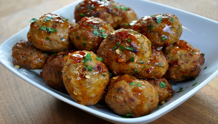 Firecracker chicken meatballs-Netmarkers