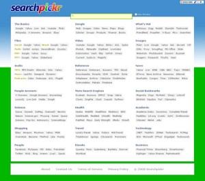 Metasuchmaschine searchpickr: Einmal mit Alles bitte!