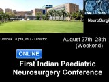 See Awesome Line-up of Speakers for First ONLINE Pediatric Neurosurgery Conference