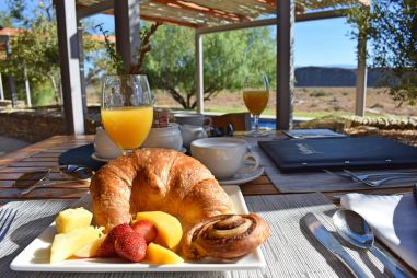 Frühstück im Sanbona Wildlife Reserve