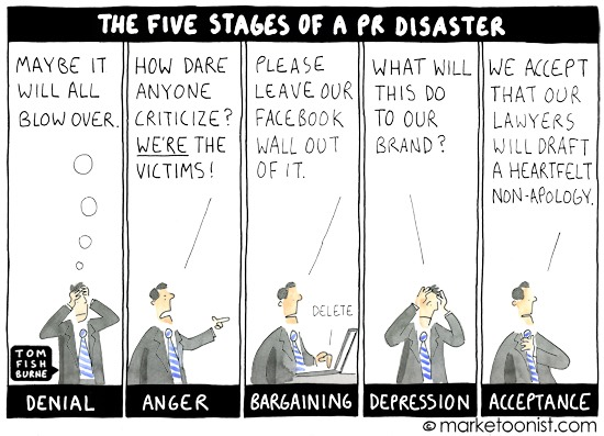 The five stages of a PR disaster