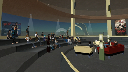 300 press event in Second Life
