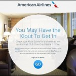 Klout score takes off with American Airlines