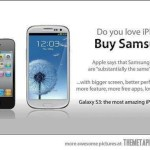 Apple, Samsung and pots and kettles