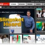 Coca-Cola re-imagines the corporate website