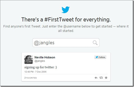 #FirstTweet