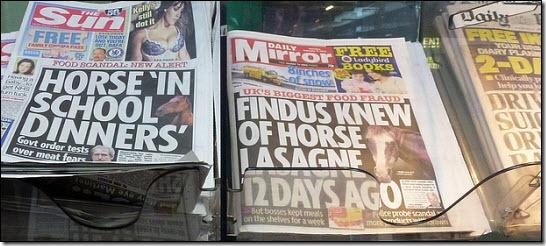Horsemeat headlines