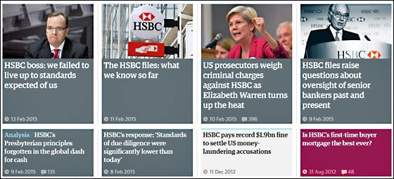 HSBC coverage by the Guardian