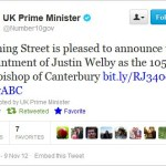 The Twitter channel for government announcements