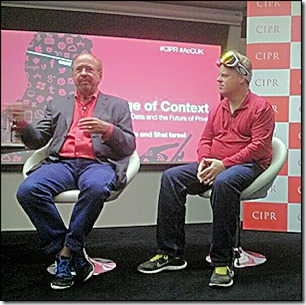 [L-R] Shel Israel and Robert Scoble in London, Oct 28, 2013